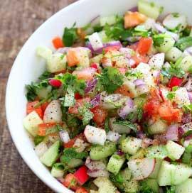 Onion Tomato Cuchumber