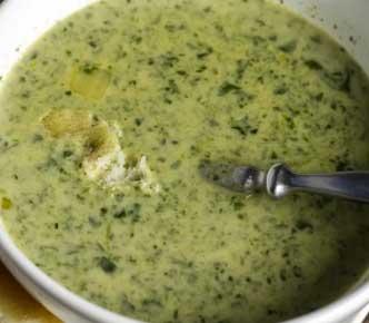 Palak Cheese Soup
